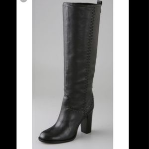 Tory Burch Wyatt Stovepipe Black Boots 7.5